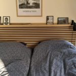 Natural black felt headboard