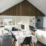 Vaulted ceiling Rustic Antique Oak acoustic panels