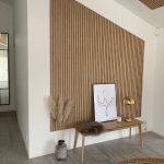 Diagonal gable Classic Oak grey felt from WoodUpp