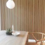 Dining room Natural Oak sound dampening Akupanel