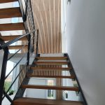 Stairwell with WoodUpp acoustic panels